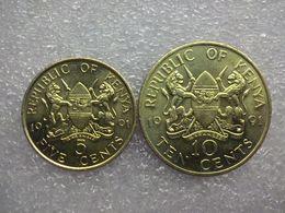 Kenya  5 And 10 Cents  1991   UNC - Kenya