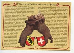 L'histoire De La Fosse Aux Ours De Berne : Légende Duc De Berchtold Zaehringen.....ours Pirouette Et Pose(cp Vierge) - Fairy Tales, Popular Stories & Legends