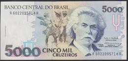 Brazil 5000 Cruzeiros 1992 P232c UNC - Brésil