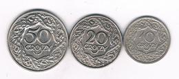 10 , 20 , 50 GROSZY 1923 POLEN /7741/ - Pologne