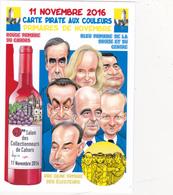 CPM Pirate Carte Pirate (46) CAHORS 2016 Caricature Hommes Politiques Tirage Limité Signée Illustrateur B. VEYRI - Collector Fairs & Bourses