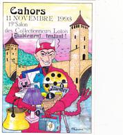 CPM Pirate Carte Pirate (46) CAHORS 1993 Diable Devil Tirage Limité Illustrateur P. GAUTHIE - Collector Fairs & Bourses