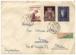 OS02) AUSTRIA 1956 - Storia Postale -Mozart -Nazioni Unite- Giornata Francobollo - 1945-60 Storia Postale