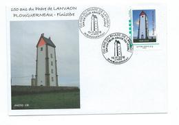 16674 -  150 Ans Du  PHARE DE LANVAON ( PLOUGUERNEAU - Finistère) TPAM Et CACHET TEMPORAIRE - Lighthouses
