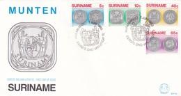 MUNTEN-FDC 1983-4 COLOR STAMPS SURINAME-BLEUP - Surinam