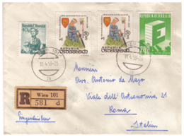 OS24)AUSTRIA 1959 Storia Postale  Raccomandata - 1945-.... 2nd Republic