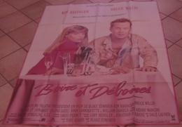 AFFICHE CINEMA ORIGINALE FILM BOIRE ET DEBOIRES Blake EDWARDS Bruce WILLIS Kim BASINGER 1987 TBE - Manifesti & Poster