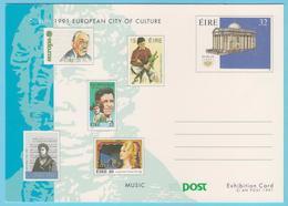 J.M.19 - Irlande - N° 10 - Entier Postal - Dublin 91 - Compositeur - Instrumentiste - Chanteuse - Partition - Théâtre - Music