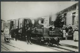 01) Ain - Photo 138 X 90 - Train En Gare De Marlieux - Châtillon - Ligne Des Dombes - Voir 2 Scans - Treinen