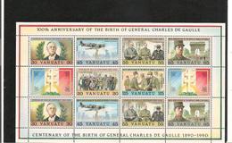VANUATU Centenaire Naissance Général De Gaulle Année 1990 Bloc N° Y/T : 17** Côte : 16,25 € - Vanuatu (1980-...)