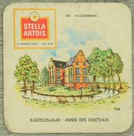 Sous-bock STELLA ARTOIS 55 Vlezenbeek Kastelenjaar Année Des Chateaux Bierdeckel Beermat Bierviltje (CX) - Sous-bocks