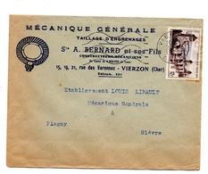 Vierzon Lettre Publicitaire Bernard Et Fils Mécaniciens Constructeurs - Advertising