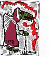 CPM Pirate Carte Pirate (83) DRAGUIGNAN 1992 Dragon Art Brut  Tirage Limité Signée Illustrateur P. MARQUER - Bourses & Salons De Collections