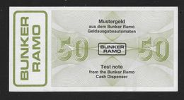 "Test Note ""BUNKER RAMO - TRÜB"" Testnote, Typ B, 50 Units, Beids. Druck, RRRRR, UNC - Schweiz"