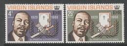 PAIRE NEUVE DES ILES VIERGES - MORT DU PASTEUR MARTIN LUTHER KING N° Y&T 190/191 - Martin Luther King