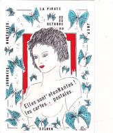 CPM Pirate Carte Pirate (44) NANTES 1988 Pin-up Sexy Glamour Eros Papillons Tirage Limité Illustrateur J LUC - Collector Fairs & Bourses