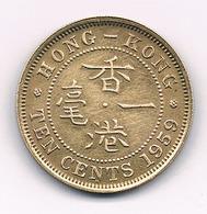 10  CENTS 1959 HONKONG /7765/ - Hong Kong