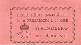 SWEDEN, 1949, Booklet 88 (Facit), Mi 346, Strindberg, Author - Boekjes