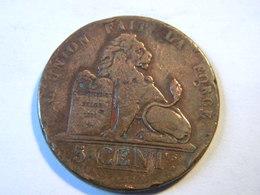 BELGIQUE - 5 CENTIMES 1837. - 1831-1865: Léopold I.