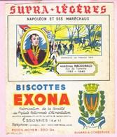 Buvard Biscottes EXONA Napoléon Et Ses Maréchaux Mac Donald - Biscottes
