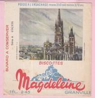 Buvard Biscottes MAGDELEINE Cathédrale De Rouen - Biscottes