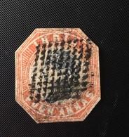 INDE (India) 4 Annas 1854 Découpé à La Forme Du Timbre Hexagonal (cut To Shape) - Stamps