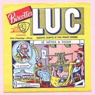 Buvard Biscottes LUC Métier à Tisser JACQUARD - Zwieback