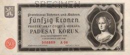 Bohemia & Moravia 50 Korun, P-5s (1940) - Specimen - UNC - Tschechoslowakei