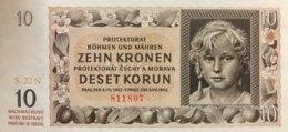 Bohemia & Moravia 10 Korun, P-7a (1942) - UNC - Tschechoslowakei