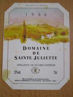 ETIQUETTE DE VIN CORSE DOMAINE DE SAINTE JULIETTE 1986 - Rouges