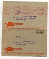 Bundesrepublik Deutschland / 1960 U.a. / 2 Int. Streifbaender Ex Muenchen, Gebuehr Bezahlt-Stempel Bzw. Aufdruck (27243) - [7] Federal Republic
