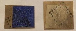 INDE SCINDE DAWK 1852 1/2a Blanc Et 1/2a Bleu - Réimpressions - Stamps