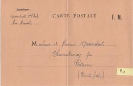 B1 / Carte Postale FM / Franchise Militaire / Aux Armées - Militaria