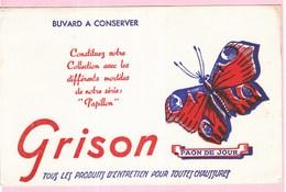 Buvard GRISON Animaux Papillon Paon Du Jour - Wash & Clean