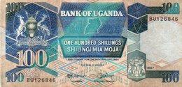 UGANDA 100 SHILINGS 1987 P-31a - Uganda