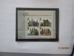 GB - British Post Office First Miniature Stamp Sheet - London 1980 International Stamp Exhibition MNH - Organizations