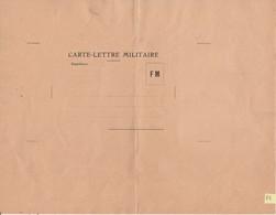 B2 / Carte Lettre FM / Franchise Militaire / Non Utilisée - Militaria