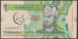 Turkmenistan 1 Manat 2017 Pnew UNC - Turkmenistan