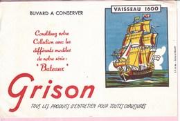 Buvard GRISON Bateau Vaisseau 1600 - Wash & Clean