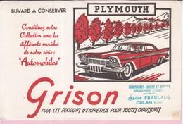 Buvard GRISON Automobiles Voitures Plymouth - Automobile