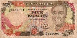 ZAMBIA 5 KWACHA 1989 P-30a - Zambia
