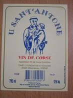 ETIQUETTE VIN DE CORSE U SANT'ANTONE - Rouges