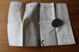 Beau Manuscrit Sur Velin Avec Sceau En Cire Dans Sa Boite 1777 - Manuscripts