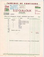 Lot 2 Factures De Rennes (35) Pour Moncoutant (79) - 1953 & 1954 - Ets Mapi - Fabrique De Confiseries Et Bonbons - Alimentaire