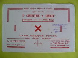 Buvard   Savonnerie De La Croix Rouge Ets: CAMERLYNCK ET CORDIER - Blotters