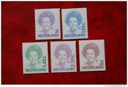 Beatrix Inversie Zelfklevend NVPH 1491b - 1501b (Mi 1908 + 1914-1919); 2001 POSTFRIS / MNH ** NEDERLAND / NIEDERLANDE - Unused Stamps