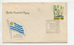 SOBRE PRIMER DIA DE EMISION MATASELLO 150 AÑOS DEL CORREO DEL URUGUAY 1977 FDC- LILHU - Uruguay