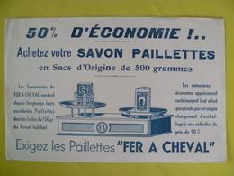 Buvard   Savon Paillettes  FER A CHEVAL - Blotters