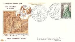 Enveloppe Journée Nationale Du Timbre 1954 Vieux Charmont - Journée Du Timbre