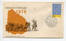 SOBRE PRIMER DIA EMISIONES POSTAL 1978 MATASELLOS HISPANIDAD 1978 - LILHU - Uruguay